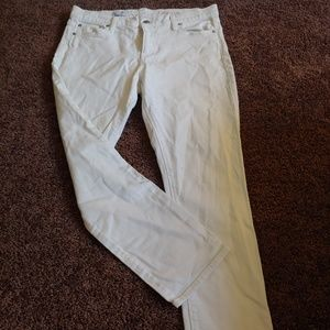 GAP 1969 white girlfriend ankle pants